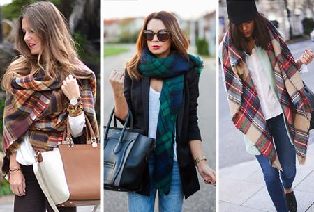 Oversized tartan sjaal nu slechts €13,95!