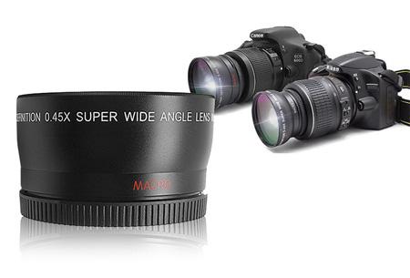 Groothoek- en macrolens voor o.a. Canon of Nikon