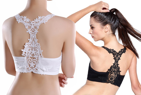 Lace back comfort BH