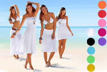 Multifunctioneel strandjurkje  op allerlei manieren te dragen! Nu slechts €14,95