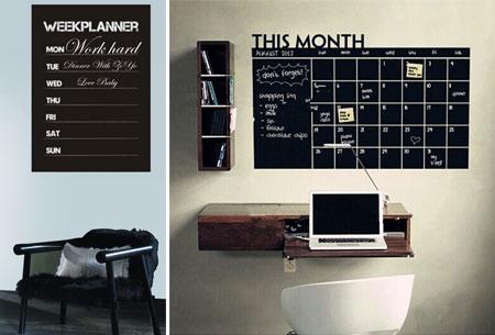 Krijtbord week en maandplanners muursticker nu al vanaf u ac