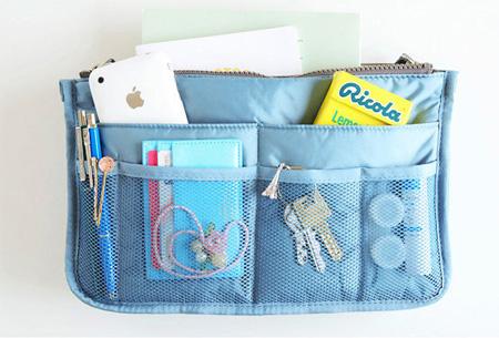 Bag-in-Bag tas | Nooit meer chaos in je tas!  Blauw