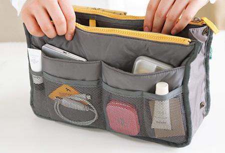 Bag-in-Bag tas | Nooit meer chaos in je tas!  Grijs