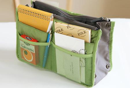 Bag-in-Bag tas | Nooit meer chaos in je tas!  Groen