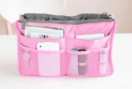 Bag-in-Bag tas | Nooit meer chaos in je tas!  Lichtroze