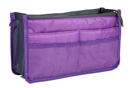 Bag-in-Bag tas | Nooit meer chaos in je tas!  Paars
