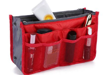 Bag-in-Bag tas | Nooit meer chaos in je tas!  Rood