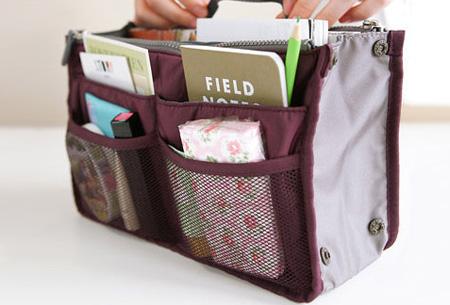 Bag-in-Bag tas | Nooit meer chaos in je tas!  Wijnrood