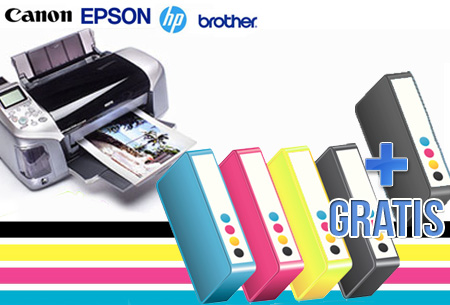 Brother, Canon, Epson en HP 5, 6 of 7-pack cartridges