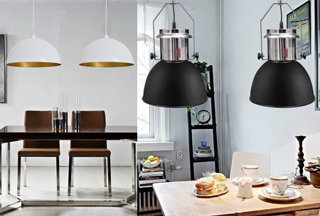 Moderne metalen hanglampen - set van 2 stuks nu al vanaf €37,95!