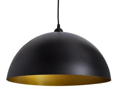 Moderne metalen hanglampen - set van 2 stuks | Design voor een spotprijs! halfrond zwart