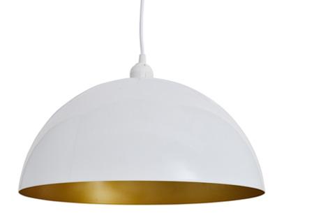 Moderne metalen hanglampen - set van 2 stuks | Design voor een spotprijs! halfrond wit