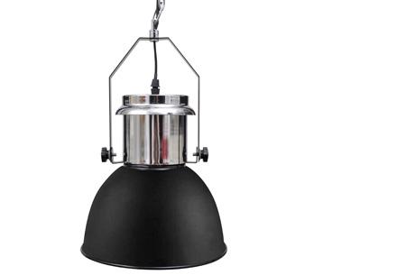 Moderne metalen hanglampen - set van 2 stuks | Design voor een spotprijs! industrieel zwart