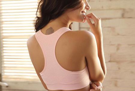 Stevige, elastische sport BH | Professionele BH met ventilatie Roze