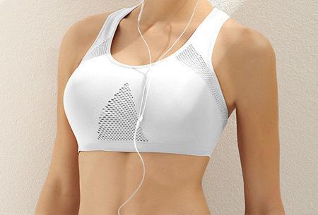 Stevige, elastische sport BH | Professionele BH met ventilatie Wit