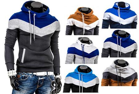 Tricolor heren sweater | Met comfy fleece binnenzijde