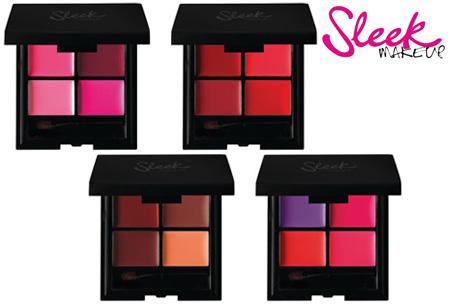 Sleek lipstick kwartet palette nu 2 stuks voor maar €6,95!