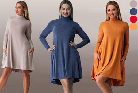 Turtleneck jurk nu slechts €17,95!