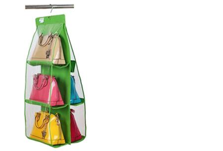 Schoenen & tassen organizers nu al vanaf €7,95 | Praktisch en ruimtebesparend! Tas organizer groen