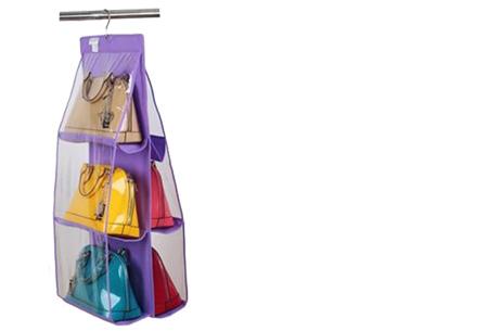 Schoenen & tassen organizers nu al vanaf €7,95 | Praktisch en ruimtebesparend! Tas organizer paars