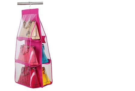 Schoenen & tassen organizers nu al vanaf €7,95 | Praktisch en ruimtebesparend! Tas organizer roze