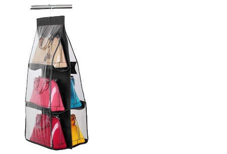 Schoenen & tassen organizers nu al vanaf €7,95 | Praktisch en ruimtebesparend! Tas organizer zwart