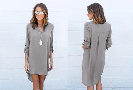 Stylish blouse | Een stijlvolle musthave voor elke dames garderobe! Grijs