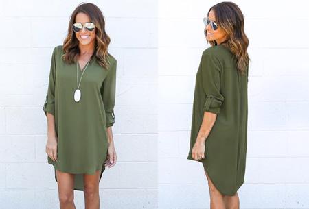 Stylish blouse | Een stijlvolle musthave voor elke dames garderobe! Legergroen