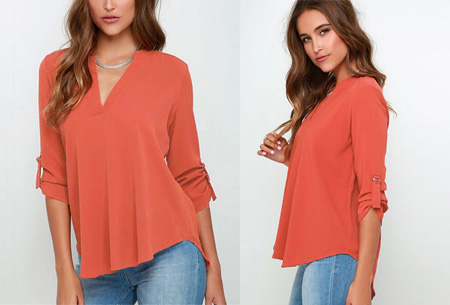 Classy blouse | Stijlvolle wannahave voor elk figuur! Koraal