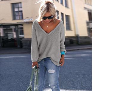 Comfy v-neck trui | Comfortable & trendy wannahave! Grijs