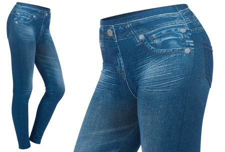 Slim jeans legging | De comfort van een legging en de looks van een jeans Blauw