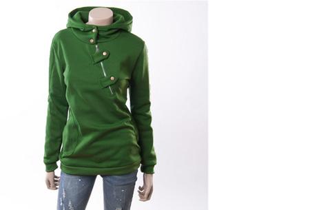 Dames sweater | Heerlijk warme, comfortabele hoodie Groen