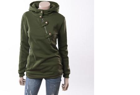 Dames sweater | Heerlijk warme, comfortabele hoodie Legergroen