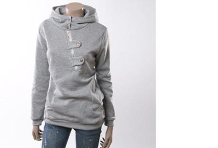 Dames sweater | Heerlijk warme, comfortabele hoodie Lichtgrijs