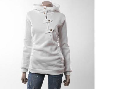 Dames sweater   Heerlijk warme, comfortabele hoodie Wit