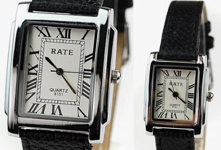 Verrassend Elegant en tijdloos: Vierkant lederen horloge in 3 kleuren nu 9,95! FN-44