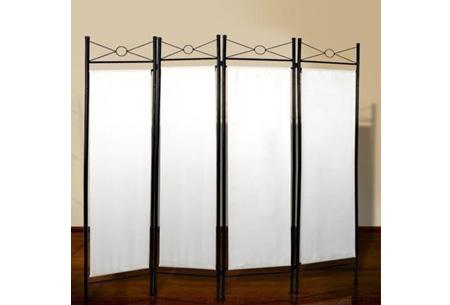Kamerscherm met 4 panelen | Functioneel en decoratief