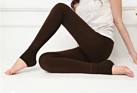 Fleece legging | Voor heerlijk warme benen deze winter Bruin