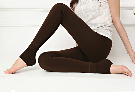 Fleece winterlegging | Heerlijk warme legging voor dames Bruin