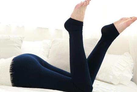 Fleece winterlegging | Heerlijk warme legging voor dames Donkerblauw