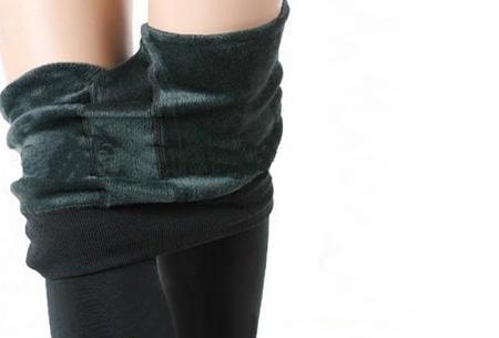 Fleece winterlegging | Heerlijk warme legging voor dames Donkergroen