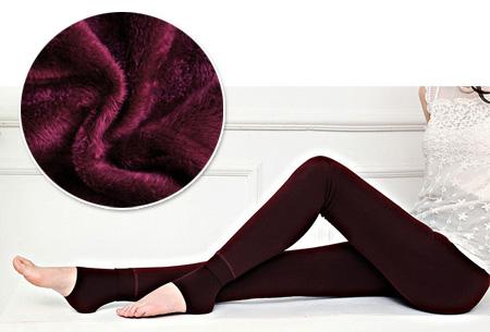 Fleece winterlegging | Heerlijk warme legging voor dames Wijnrood