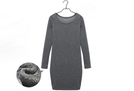 Tuniek met fleece binnenvoering | Heerlijk warme & fashionable winter musthave! Donkergrijs