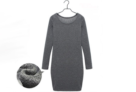 Tuniek met fleece binnenvoering   Heerlijk warme & fashionable winter musthave! Donkergrijs