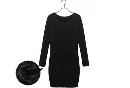 Tuniek met fleece binnenvoering   Heerlijk warme & fashionable winter musthave! Zwart