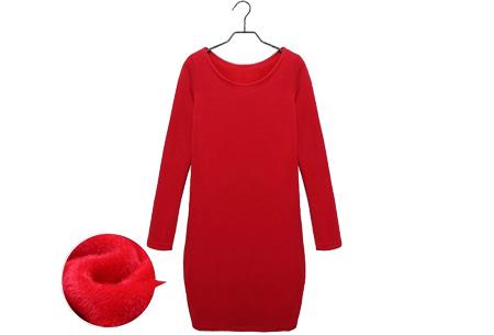 Tuniek met fleece binnenvoering   Heerlijk warme & fashionable winter musthave! Rood