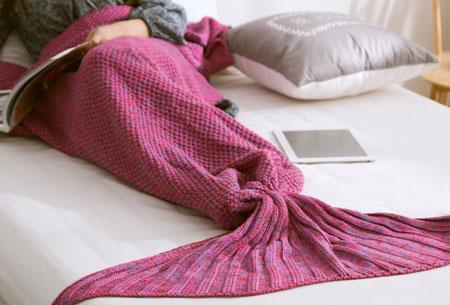 Zeemeermin deken | Keuze uit 2 maten en 5 kleuren Donkerroze