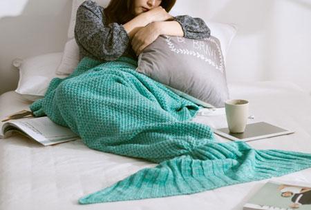 Zeemeermin deken | Keuze uit 2 maten en 5 kleuren  Mintgroen