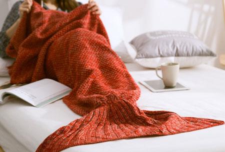 Zeemeermin deken | Keuze uit 2 maten en 5 kleuren Oranje