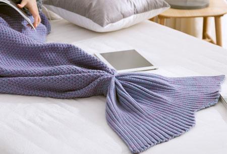 Zeemeermin deken | Keuze uit 2 maten en 5 kleuren  Paars